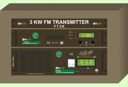 FT3K - 3000 W FM Digital Transmitter