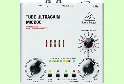 Behringer MIC200 Ultragain High End Vacuum Tube Preamplifier