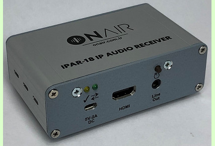 IPAR-18 - Portable IP Audio Receiver